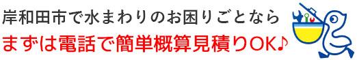 岸和田市の水道屋さん|トイレつまり・排水つまり・水漏れ修理なら